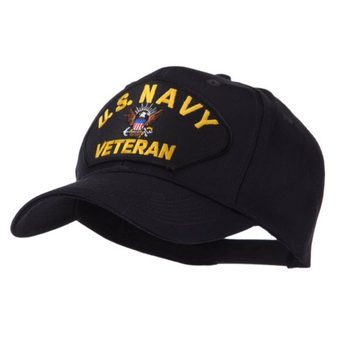 e4Hats.com Veteran Military Large Patch Cap - US Navy OSFM