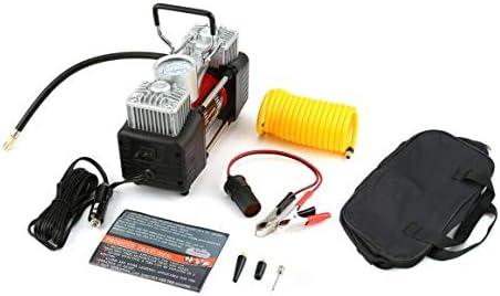 Funnyrunstore 12V 150PSI portátil de emergencia 2 del coche del cilindro del compresor de aire universal,negro y rojo