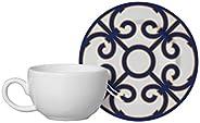 Conjunto Alleanza de 6 Xicaras Café c/pires Macedonia Azul