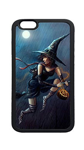 iPhone 6 6s Plus Case,Halloween Cute Witch Flying Broom Case Cover Protectoer for iPhone 6 6s Plus 5.5inch - TPU (Full Name For Halloween)