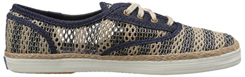 Women's Fashion Stripe Crochet Keds Natural Sneaker Champion Navy dxfRzxnTaq