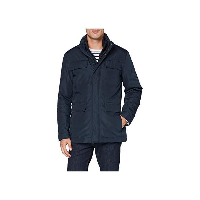 41u3alGPhRL Abrigo formal con 4 bolsillos, una prenda informal para el uso cotidiano 100% Poliéster Cierre: Con tapa.