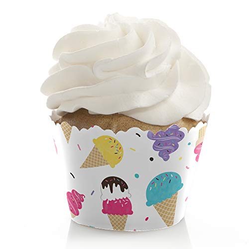 Scoop Up The Fun - Ice Cream - Sprinkles Party Decorations - Party Cupcake Wrappers - Set of 12 ()