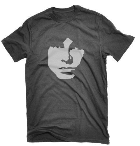 Dicky Ticker Men's Jim Morrison T-shirt The Doors Lizard King 1960s Large Black