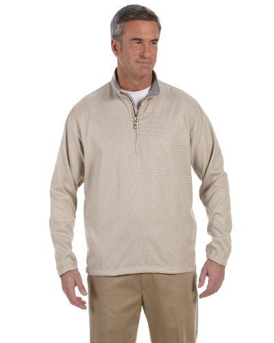 UPC 885582198679, Ashworth Mens Houndstooth Half-Zip Jacket - KHAKI - 3XL