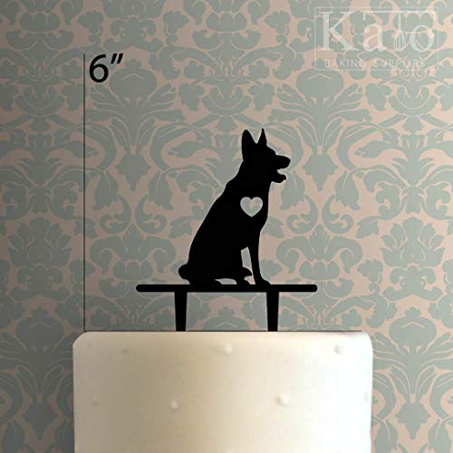 (Dog - German Shepard Cake Topper for Anniversary Party Decorations Birthdays, Weddings, Themed Parties Cake Decoration In Your Choice of)