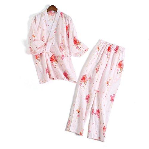 (ボラ-キキ) Bole-kk パジャマ ルームウェア 寝巻き レディース 半袖 入院 介護 2重ガーゼ 寝間着 部屋着 前開き 上下セット ゆったり