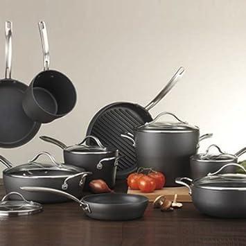 Excelente calidad Kirkland Signature 15 piezas Anodizado duro de cocina: Amazon.es: Hogar