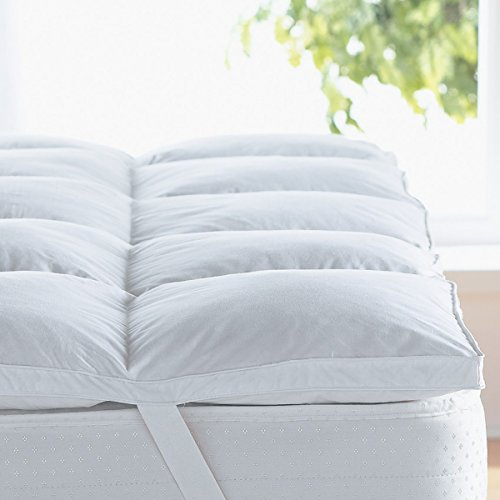 Home Sweet Home 300 Thread Count 100% Egyptian Cotton Hypo-Allergenic Down Alternative Mattress Topper 1000 Grams Filling (Queen Size) (Fill Hypoallergenic Mattress Pad)