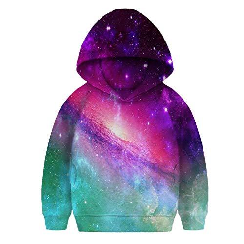 SAYM Girls Kids Galaxy Fleece Universe Sweatshirts Pullover Hoodies 4-16Y
