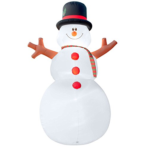 Holidayana Christmas Inflatable Giant 15 Ft. Snowman Inflatable Featuring Lighted Interior / Airblown Inflatable Christmas Decoration With Built In Fan And Anchor Ropes by Holidayana (Image #1)