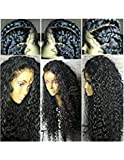 Fushen Hair 360 Lace Frontal Wigs 180% Denisty Lace Front Human Hair Wigs for Black Women Curly Brazilian Virgin Hair Pre Plucked 360 Lace Wigs with Baby Hair (14inch with 180% density, Curly)