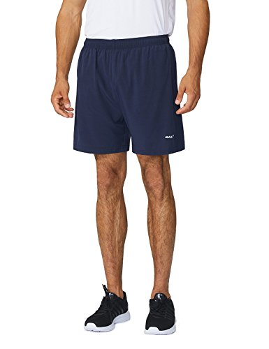 Baleaf Men's Woven 5″ Running Shorts Navy Size M