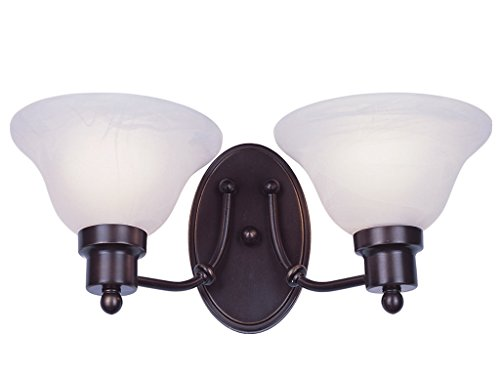 Wall Sconces 2 Light Fixture with Weathered Bronze Finish Metal Medium 16