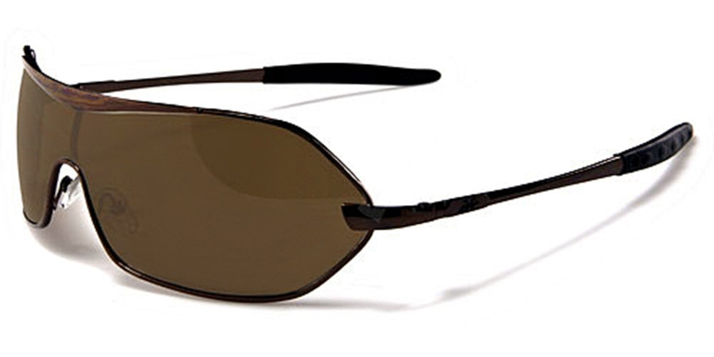 Xloop Aviator Mask Sonnenbrillen - Pilotenbrille - Radfahren - Skifahren - Laufen - Driving - Motorradfahrer / Mod. 3910 Braun Kupfer / One Size Adult / 100% UV400 Schutz