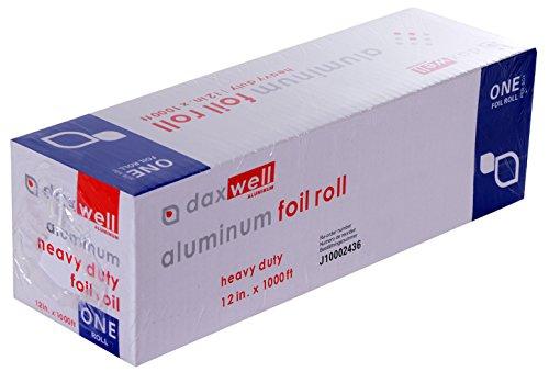 "Daxwell Aluminum Heavy Duty Foil Roll, 1000' Length x 12""..."