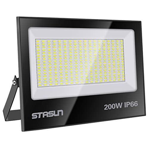 chollos oferta descuentos barato STASUN Focos Led Exterior 200W Luz de Inundación 6000K Luz del día blanco 20000LM Impermeable IP66 Floodlights Garantía de 24 Meses