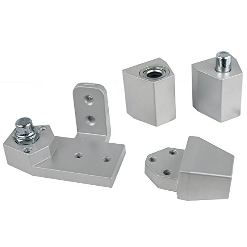 Global Door Controls White Arch/Vistawall Style Right Hand Offset Pivot ()