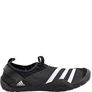 adidas Outdoor Men's Climacool Jawpaw Slip-on Water Shoe, Black/White/Utility Black, 8 M US