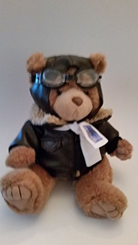 [very cute teddy bear pliot in full gear!! Blue Hawaiian Helicopter (preowned) zipper little loose] (Blue Hawaiian Helicopters)