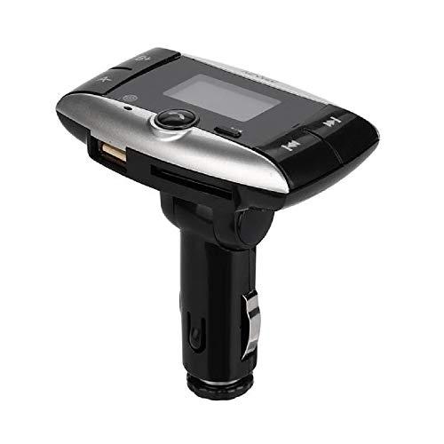 Roisay 1.5''LCD Car Kit Bluetooth FM Transmitter Wireless Radio Modulator Support SD MMC USB Remote Handsfree Calls 3.5mm Audio Adapter Receiver Car Multimedia Mp3 Player
