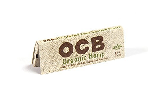 24 OCB Organic 1 1/4 Cigarette Rolling Papers Pack (50 Rolling Papers Per Pack) + Limited Edition Beamer Smoke Sticker. Used with Legal Smoking Herbs, Rolling Tobacco, and Herbal Mixes by Beamer Smoke