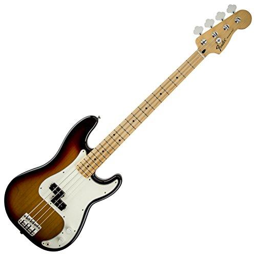 Fender Standard Precision Electric Bass Guitar - Maple Fingerboard, Brown (Sunburst Maple Fingerboard)