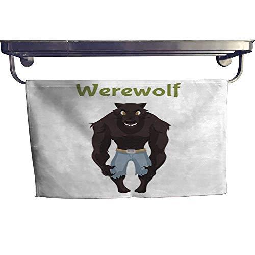 warmfamily Sports Ttowel Scary Werewolf Halloween Costume idea Towel W 14