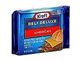 Kraft Deli Deluxe American Sliced Cheese, 8 Ounce -- 12 per case.