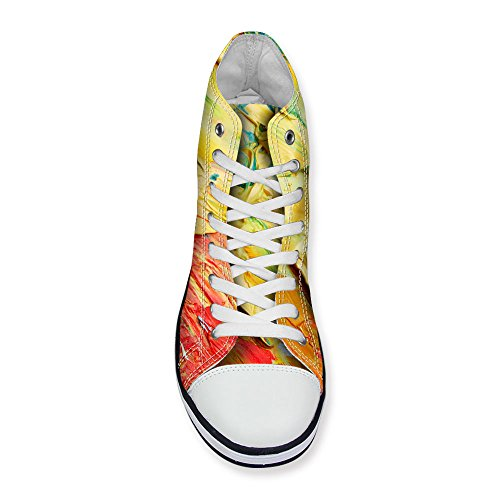 Flat DESIGNS Sneakers Top Yellow Women's Shoes High FOR U Lace Canvas Classics up Stylish Zwv5YzTq