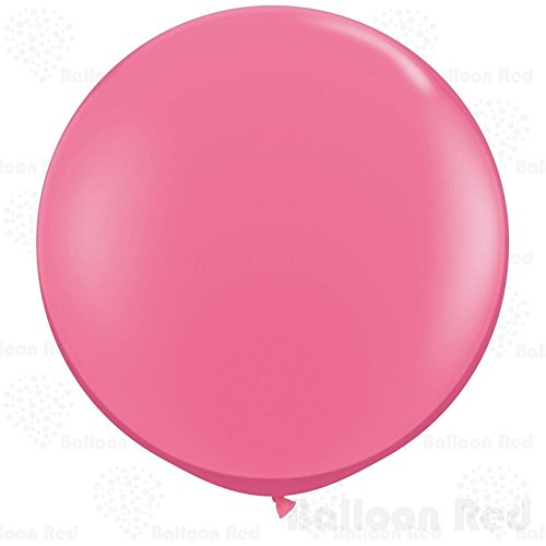 36 Inch Giant Jumbo Latex Balloons (Premium Helium Quality), Pack of 12, Round Shape - Rose (Light Bright Patterns Halloween)