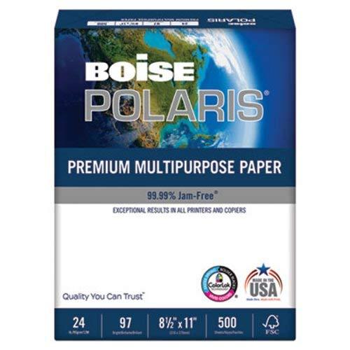 Boise POLARIS Copy Paper, 8 1/2 x 11, 24lb White, 5,000 Sheets/Carton