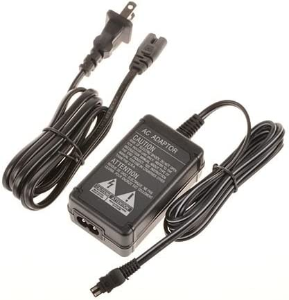 AC//DC Battery Power Charger Adapter Compatible with Sony Camcorder DCR-HC46 E DCR-HC30 E