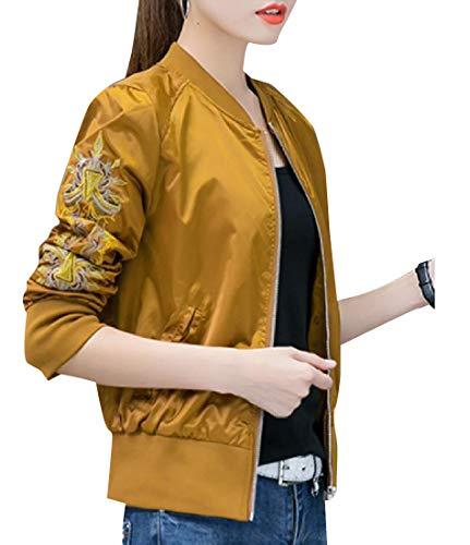 Picture Womens Jacket As Collar XINHEO Banded Boyfriend Slim Casual Blouson 4qndv1Bwzv
