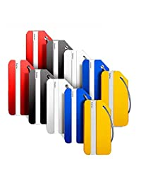 Landisun Luggage Tags, Bag Tags for Baggage Tags Travel Tags ID Card of 10 Pack