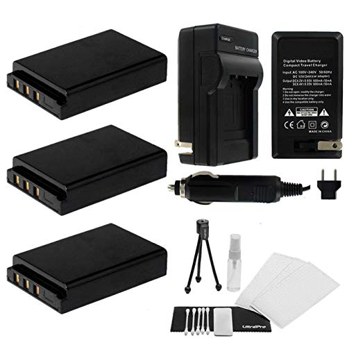 -5001 High-Capacity Replacement Batteries with Rapid Travel Charger for Kodak EasyShare P850, P880, DX6490, DX7440 Digital Cameras ()