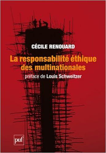 Livres gratuits La responsabilité éthique des multinationales epub pdf