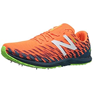 New Balance Men's 700v5 Removable Spike Cross-Country-Running-Shoes, Dynomite/Moroccan Blue, 13 D US