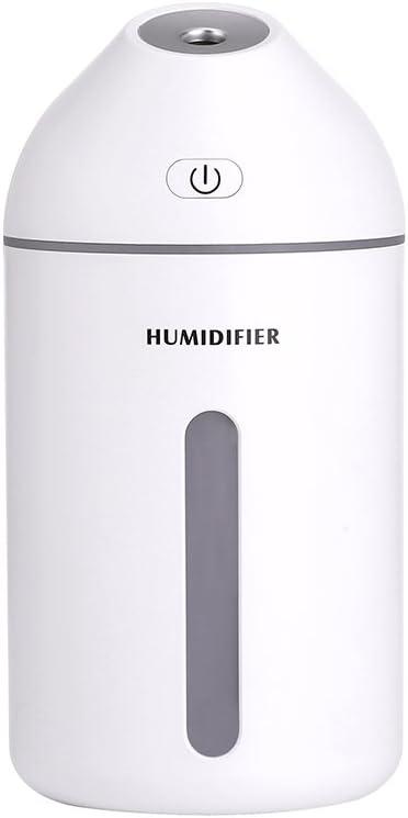 ZJWZ Humidificador de Dormitorio 320ML purificador de Aire, USB ...
