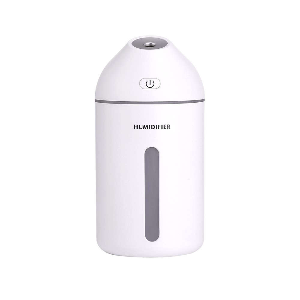 NEWCOSPLAY Humidifier Mini USB Mute Bedroom Home Office air humidifier car Water Sprayer Small Portable Pregnant Women Baby Home (White)