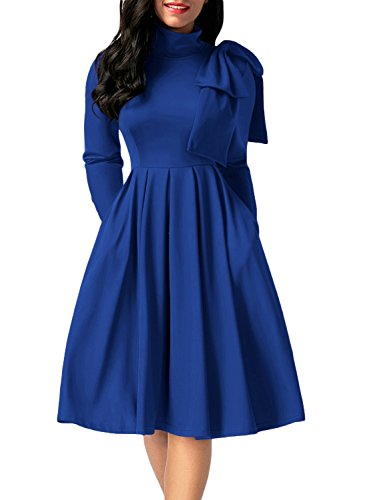 embellished blue skater dress - 5