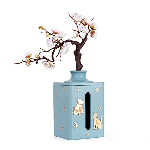 SSG Home Caja de panuelos Europea Creativa Multifuncional practico de Tejido Box Bandeja de Almacenamiento Caja Familiar Sala de Estar Escritorio Caja de Papel Decoracion (Color : Chrome, Size : A)
