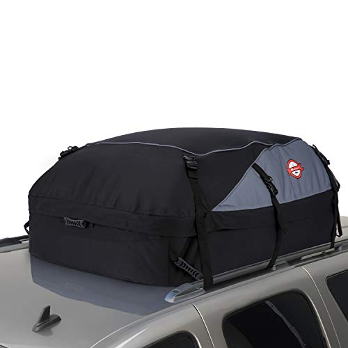 (20 Cubic Feet Thickened Car Cargo Roof Bag- Waterproof Universal Soft Rooftop Bag Luggage Carriers for Car with/Without Racks)