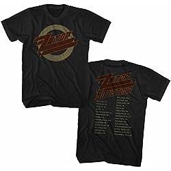 American Classics Unisex-Adults Zz Top 1990 Us Tour Short Sleeve T-Shirt, Black, 4XL