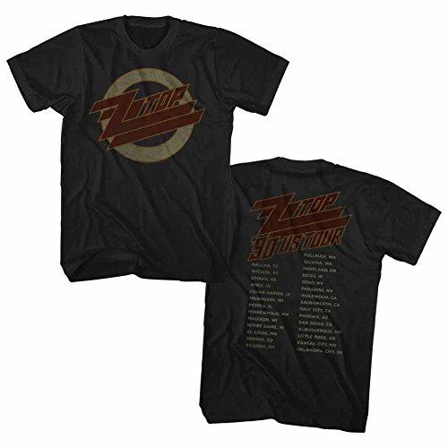isex-Adults Zz Top 1990 Us Tour Short Sleeve T-Shirt, Black, XX-Large (Zz Top Tour)