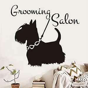 yiyiyaya Pegatinas de Pared Grooming Salon Pet Shop Art Mural ...