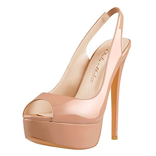 Leather Peep Toe Platform Pump - 2