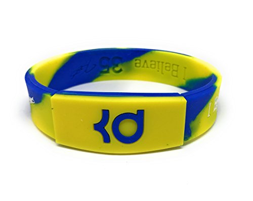 "SportsBraceletsPro REVERSIBLE Wristband ADULT/TEEN 7.7"" Size Bracelets (Durant Camo)"
