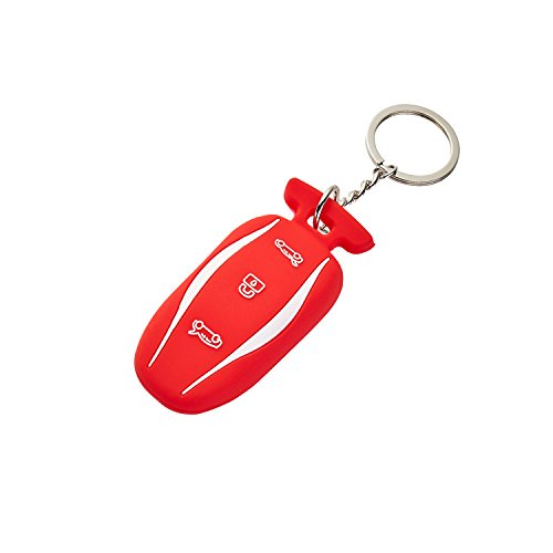 LFOTPP Silicone Car Key Cover [1 Pack] for Tesla Model S Remote Key - Army Leather Key Fob