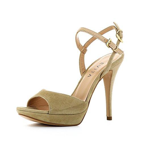 Evita Shoes Valeria - Sandalias de vestir de Piel para mujer Beige